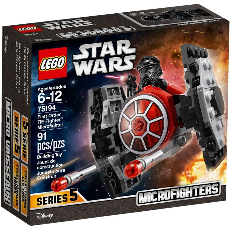 LEGO Star Wars Sets: 75194 First Order TIE Fighter Microfighter NEW