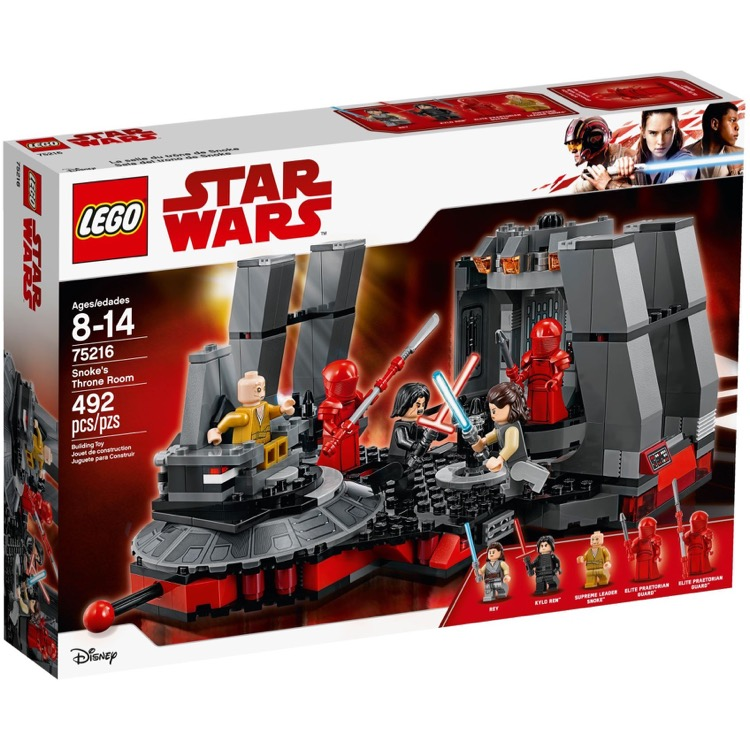 LEGO Star Wars Sets: 75216 Snoke's Throne Room NEW