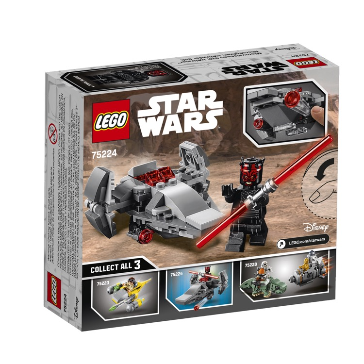 LEGO Star Wars Sets: 75224 Sith Infiltrator Microfighter NEW