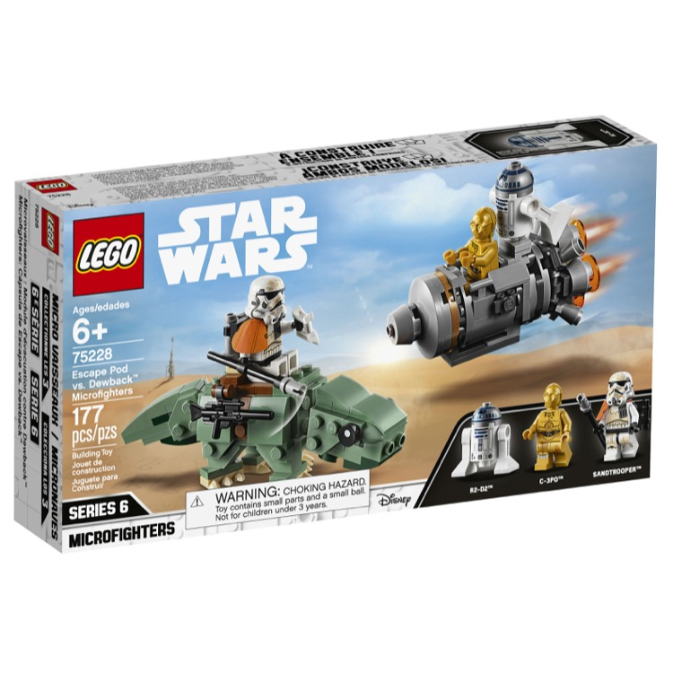 LEGO Star Wars Sets: 75228 Escape Pod vs. Dewback Microfighters NEW