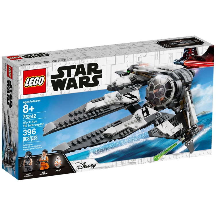 LEGO Star Wars Sets: 75242 Black Ace TIE Interceptor NEW