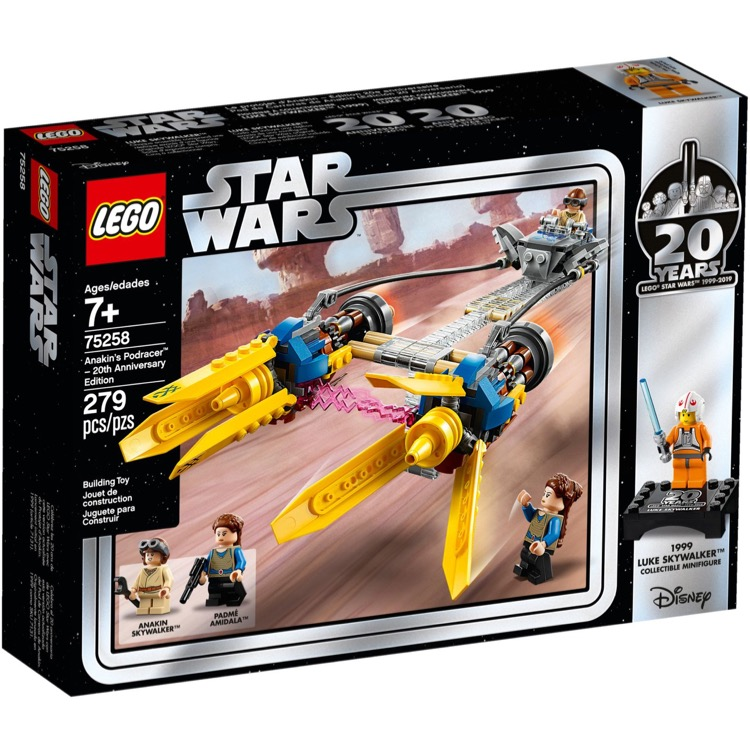 LEGO Star Wars Sets: 75258 Anakin's Podracer 20th Anniversary Ed NEW