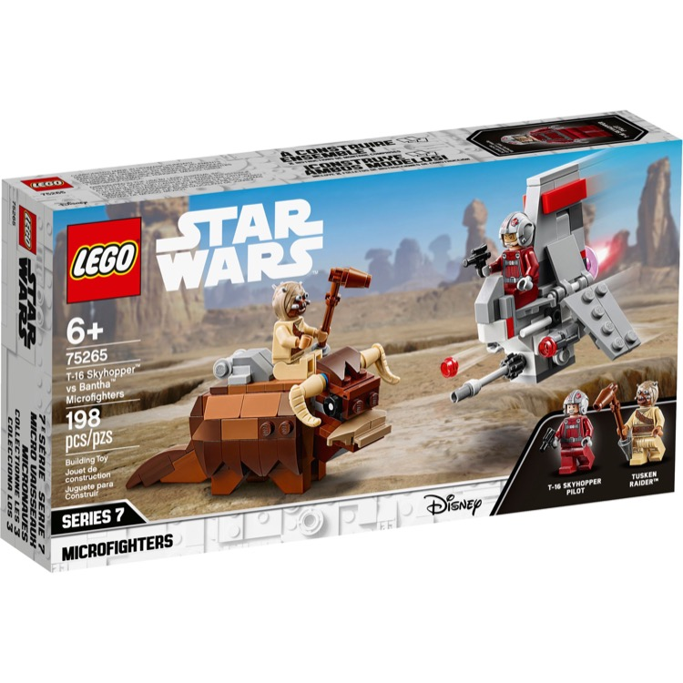 LEGO Star Wars Sets: 75265 T-16 Skyhopper vs Bantha Microfighters NEW