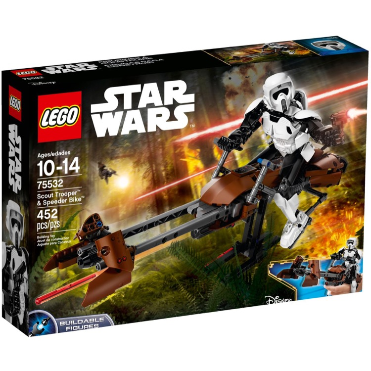 LEGO Star Wars Sets: 75532 Scout Trooper & Speeder Bike NEW