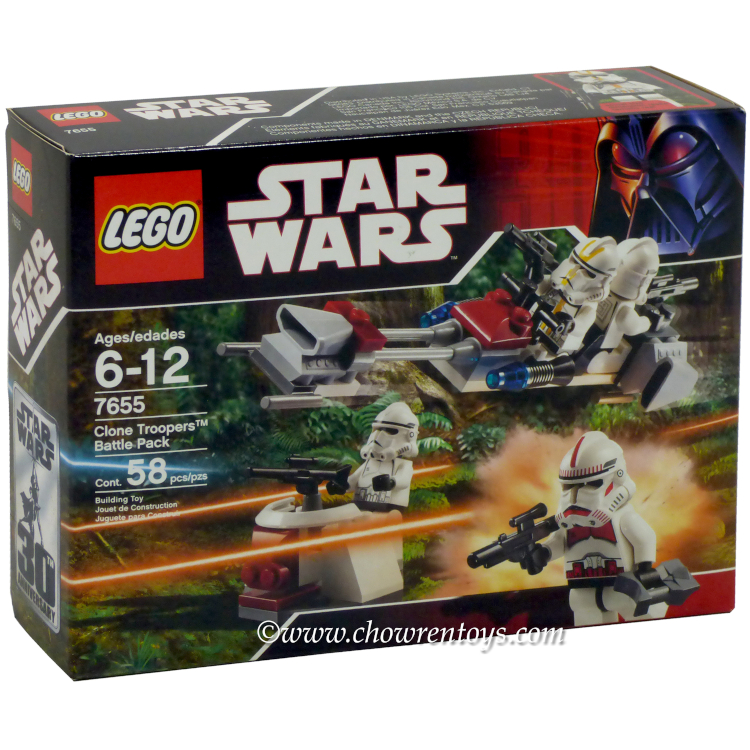 LEGO Star Wars Sets: Episode III 7655 Clone Troopers Battle Pack NEW
