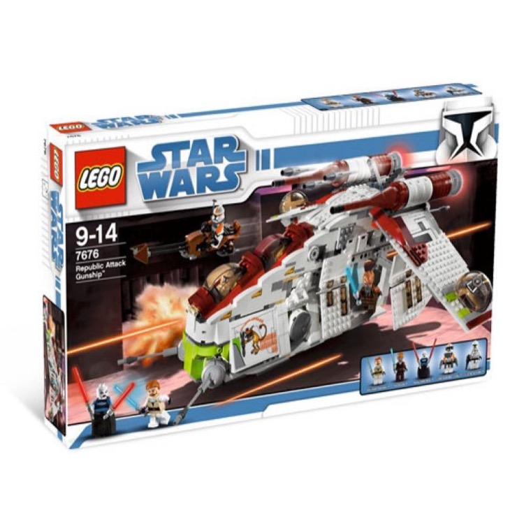 LEGO Star Wars Sets: Clone Wars 7676 Republic Gunship NEW