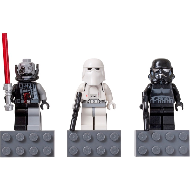 LEGO Star Wars Sets: Classic 852715 Snowtrooper,Battle-Damaged Darth Vader, and Shadow Trooper minifigure Magnets NEW