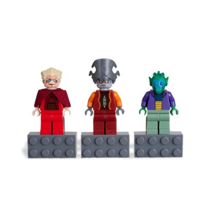 LEGO Star Wars Sets: Clone Wars 852844 Chancellor Palpatine, Nute Gunray, and Onaconda Farr minifigure Magnets NEW