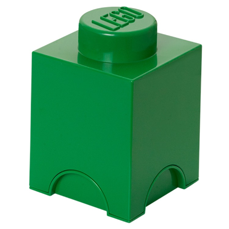LEGO Storage: 40010634 1-stud Brick Dark Green NEW