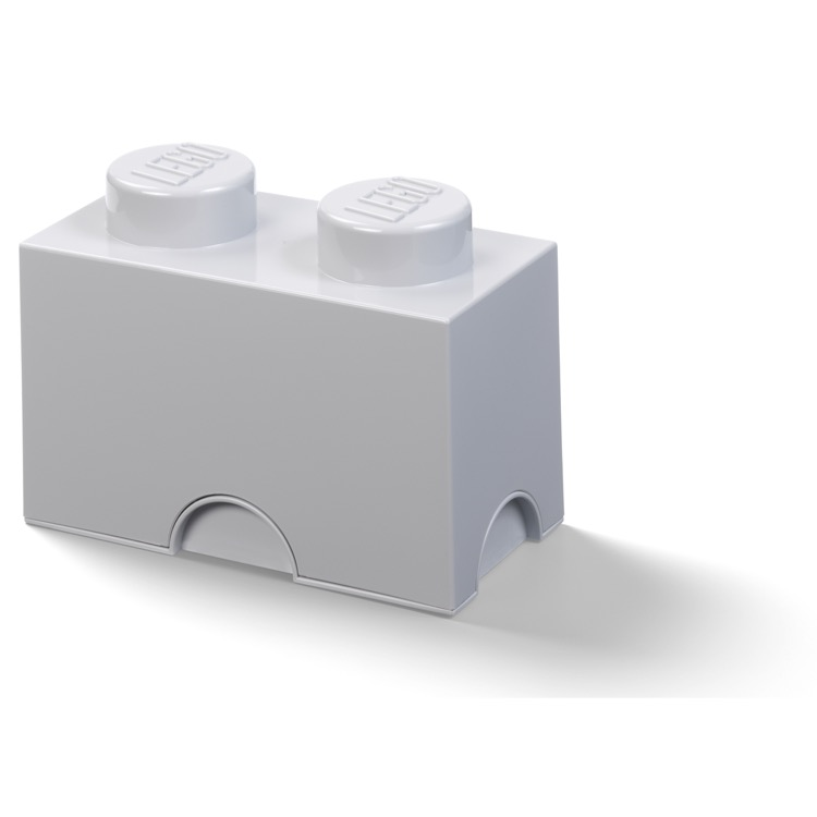 LEGO Storage: 40020540 2-stud Brick Medium Stone Grey NEW