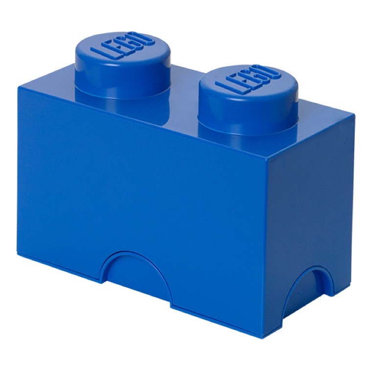 LEGO Storage: 40020631 2-stud Brick Bright Blue NEW