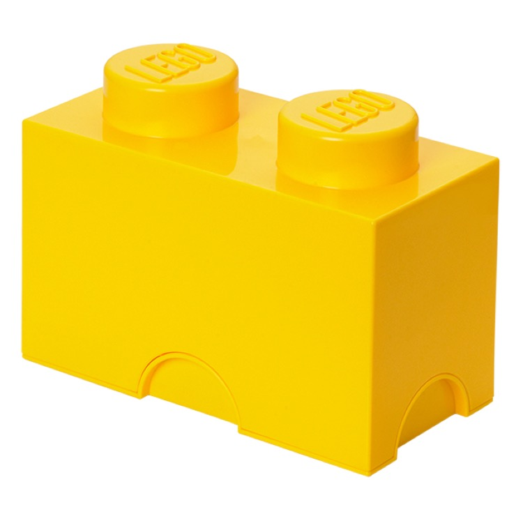 LEGO Storage: 40020632 2-stud Brick Bright Yellow NEW