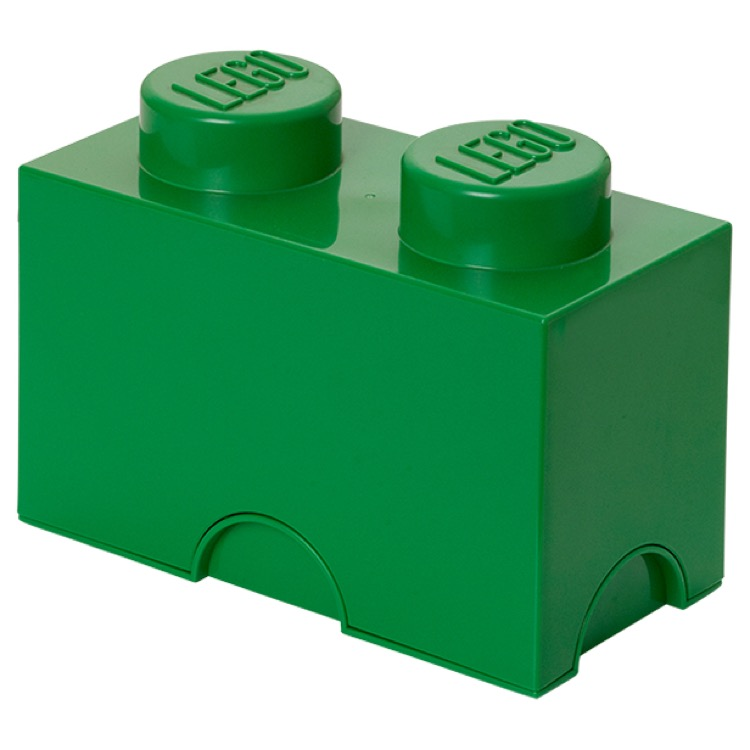 LEGO Storage: 40020634 2-stud Brick Dark Green NEW