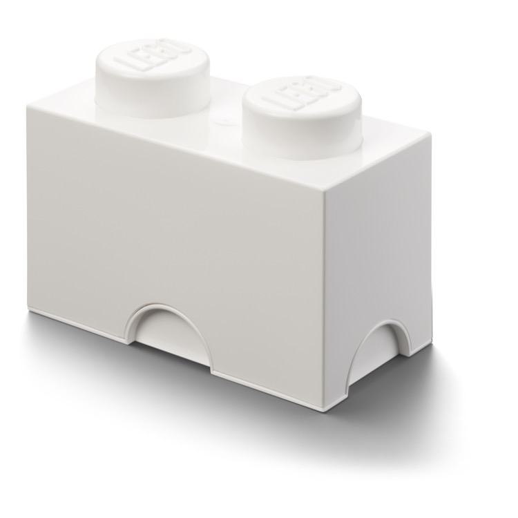 LEGO Storage: 40020635 2-stud Brick White NEW