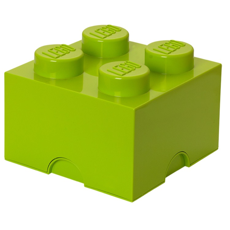 LEGO Storage: 40030620 4-stud Brick Lime Green NEW
