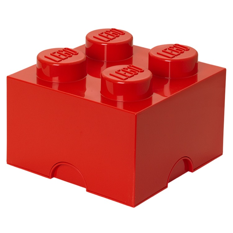 LEGO Storage: 40030630 4-stud Brick Bright Red NEW