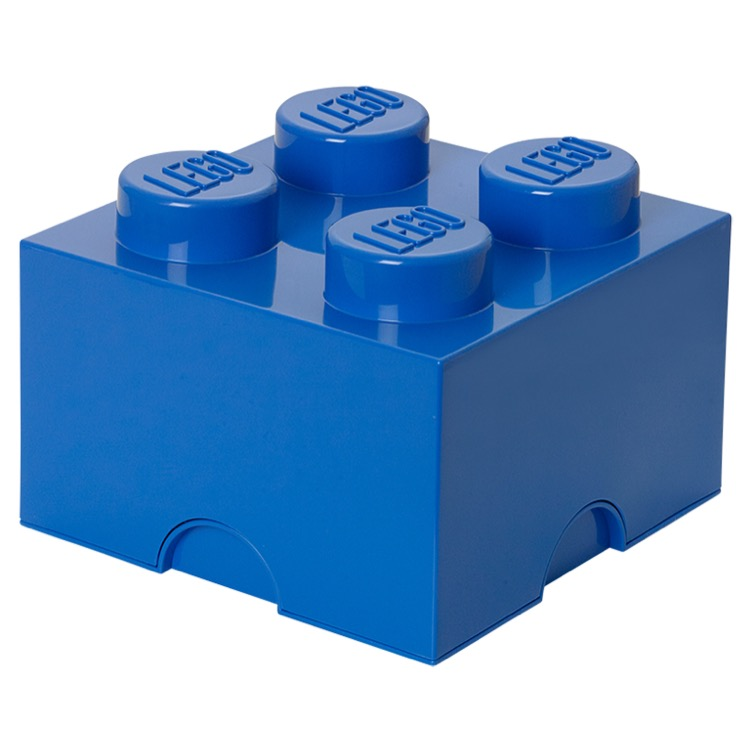 LEGO Storage: 40030631 4-stud Brick Bright Blue NEW