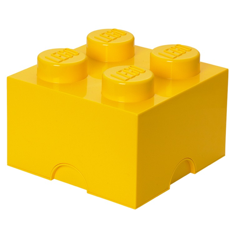LEGO Storage: 40030632 4-stud Brick Bright Yellow NEW