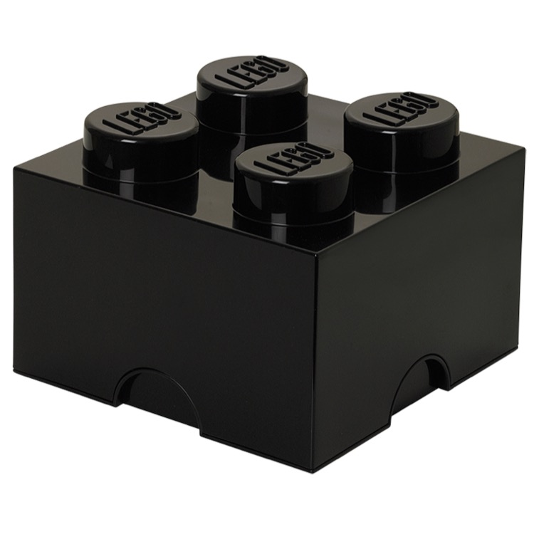LEGO Storage: 40030633 4-stud Brick Black NEW