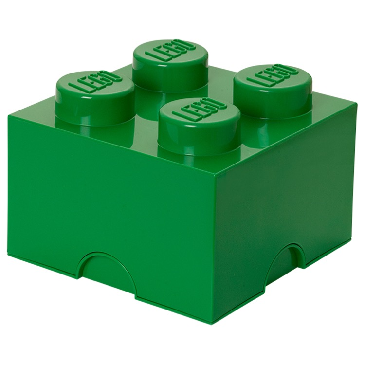 LEGO Storage: 40030634 4-stud Brick Dark Green NEW