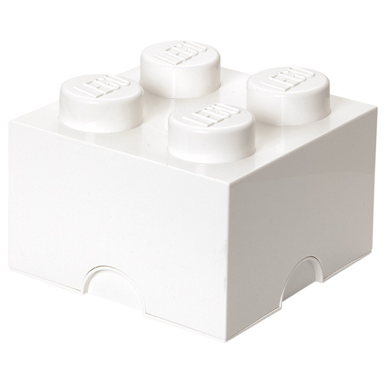LEGO Storage: 40030635 4-stud Brick White NEW