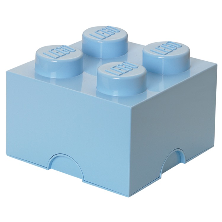 LEGO Storage: 40030636 4-stud Brick Brick Light Royal Blue NEW