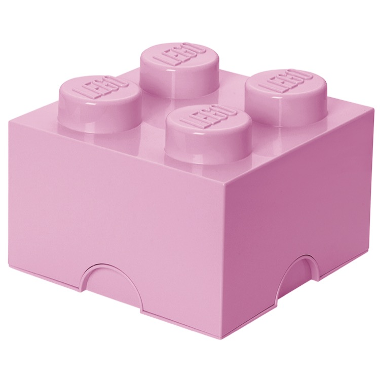 LEGO Storage: 40030638 4-stud Brick Light Purple NEW