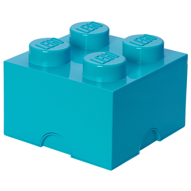 LEGO Storage: 40030643 4-stud Brick Medium Azur NEW