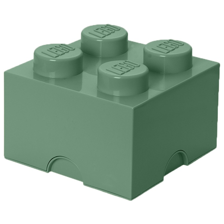 LEGO Storage: 40031747 4-stud Brick Sand Green NEW