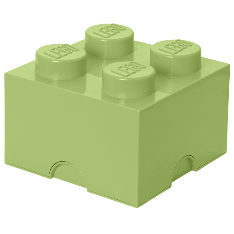 LEGO Storage: 40031748 4-stud Brick Yellowish Green NEW