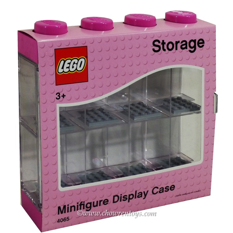 LEGO Storage: 40651753 Minifigure Display Case 8 Pink NEW