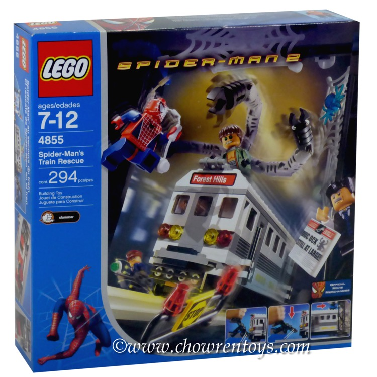 LEGO Super Heroes Sets: Marvel 4855 Spider-Man's Train Rescue NEW