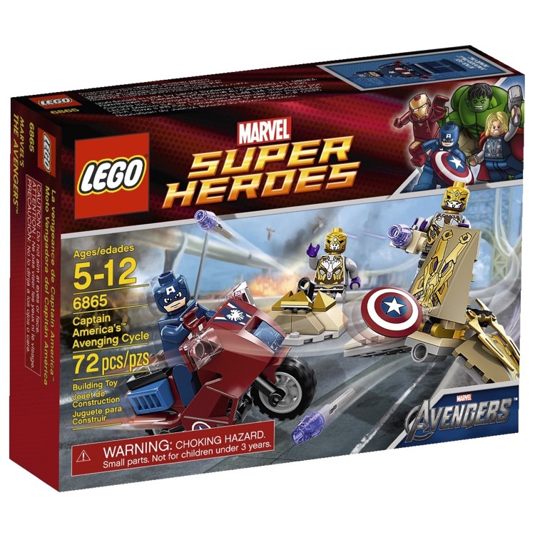 LEGO Super Heroes Sets: Marvel 6865 Captain America's Avenging Cycle NEW