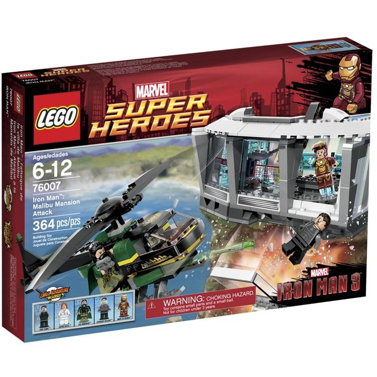 LEGO Super Heroes Sets: Marvel 76007 Iron Man: Malibu Mansion Attack NEW