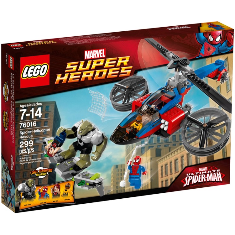 LEGO Super Heroes Sets: Marvel 76016 Spider-Helicopter Rescue NEW