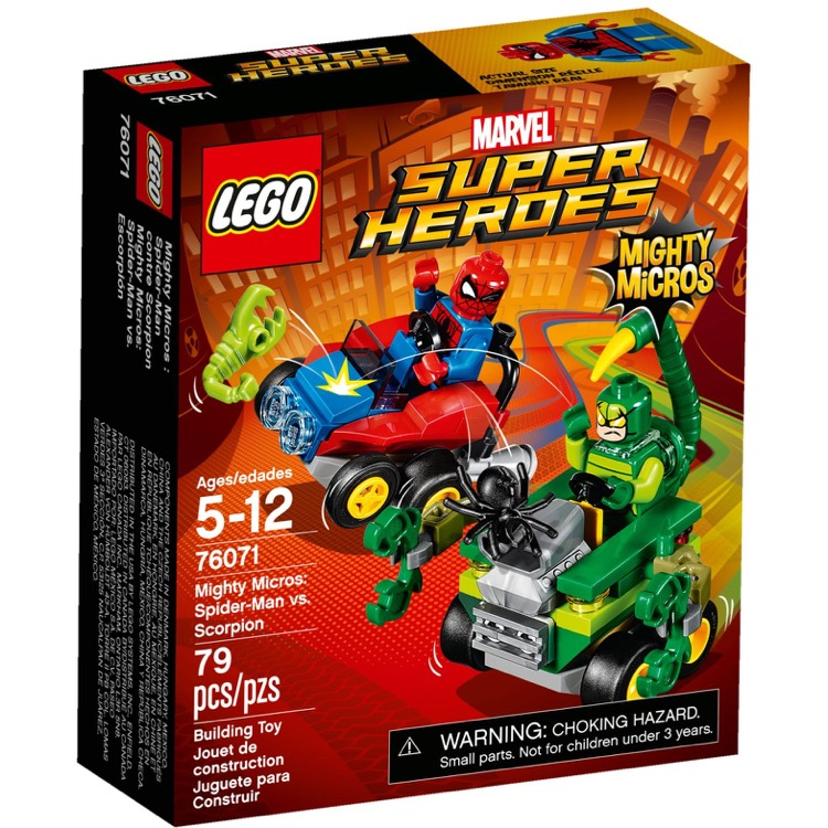 LEGO Super Heroes Sets: Marvel 76071 Mighty Micros: Spider-Man vs. Scorpion NEW  *Damaged Box*