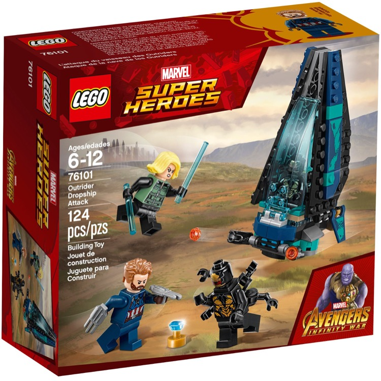 LEGO Super Heroes Sets: Marvel 76101 Outrider Dropship Attack NEW