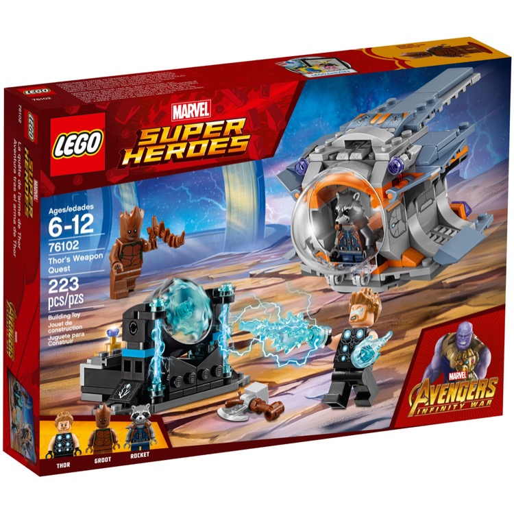 LEGO Super Heroes Sets: Marvel 76102 Thor's Weapon Quest NEW