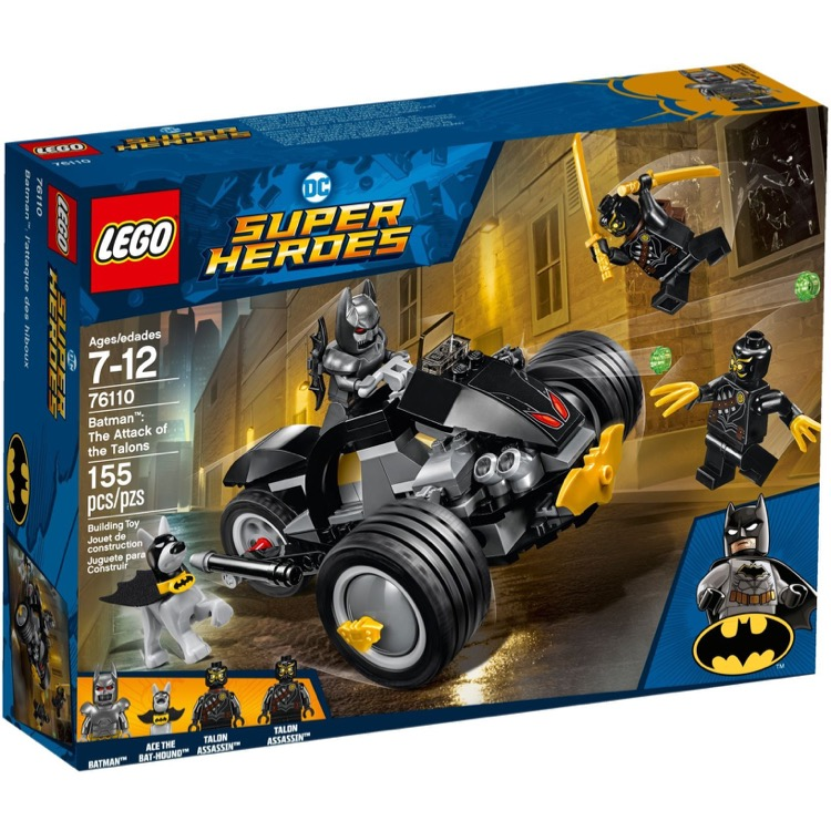 LEGO Super Heroes Sets: DC Comics 76110 Batman: The Attack of the Talons NEW *Damaged Box*