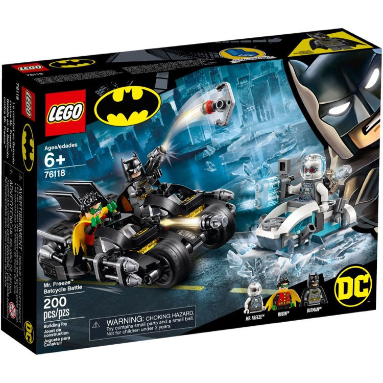 LEGO Super Heroes Sets: DC Comics 76118 Mr. Freeze Batcycle Battle NEW