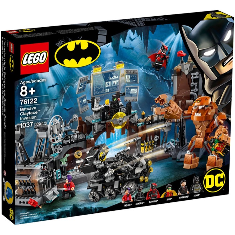 LEGO Super Heroes Sets: DC Comics 76122 Batcave Clayface Invasion NEW