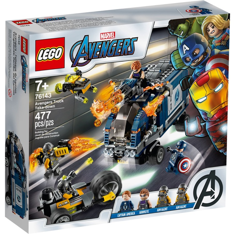 LEGO Super Heroes Sets: Marvel 76143 Avengers Truck Take-down NEW