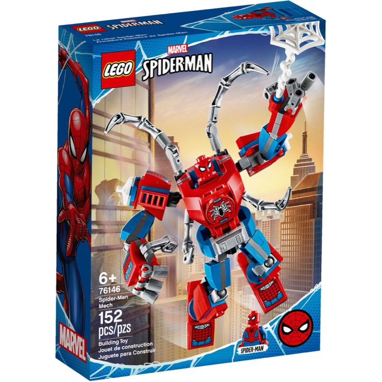 LEGO Super Heroes Sets: Marvel 76146 Spider-Man Mech NEW