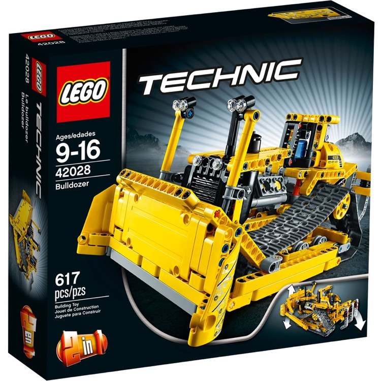 LEGO Technic Sets: 42028 Bulldozer NEW *Rough Shape*