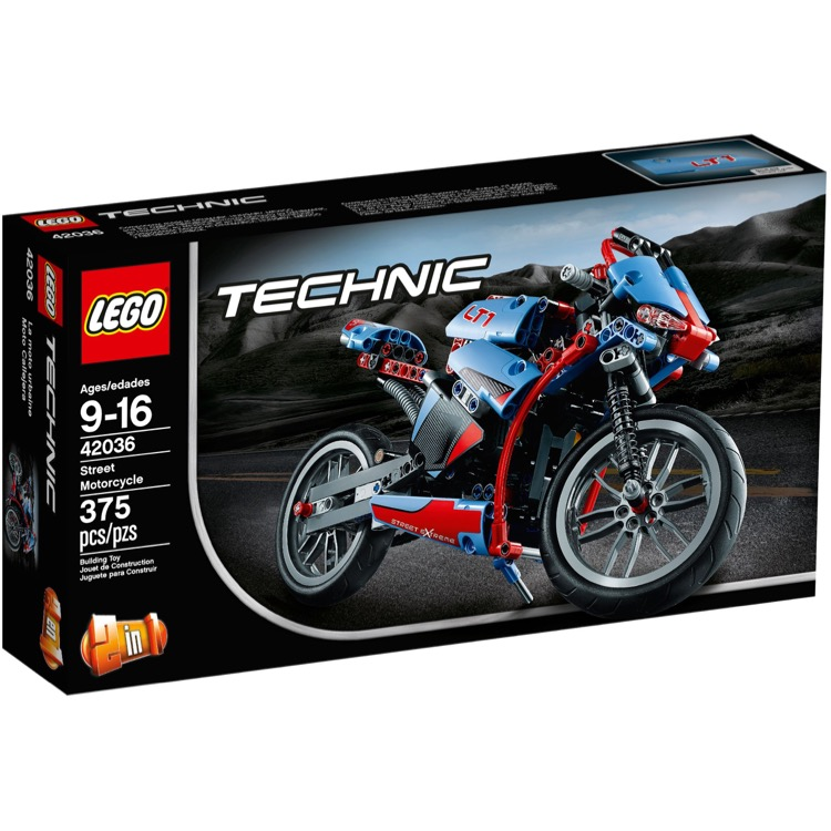 LEGO Technic Sets: 42036 Street Motorcycle NEW