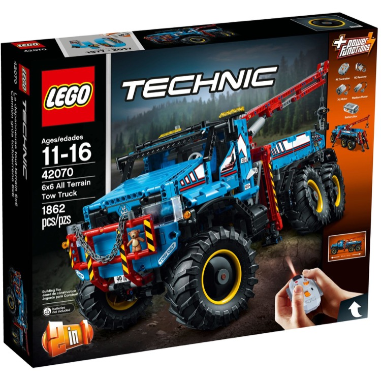 LEGO Technic Sets: 42070 6x6 All Terrain Tow Truck NEW
