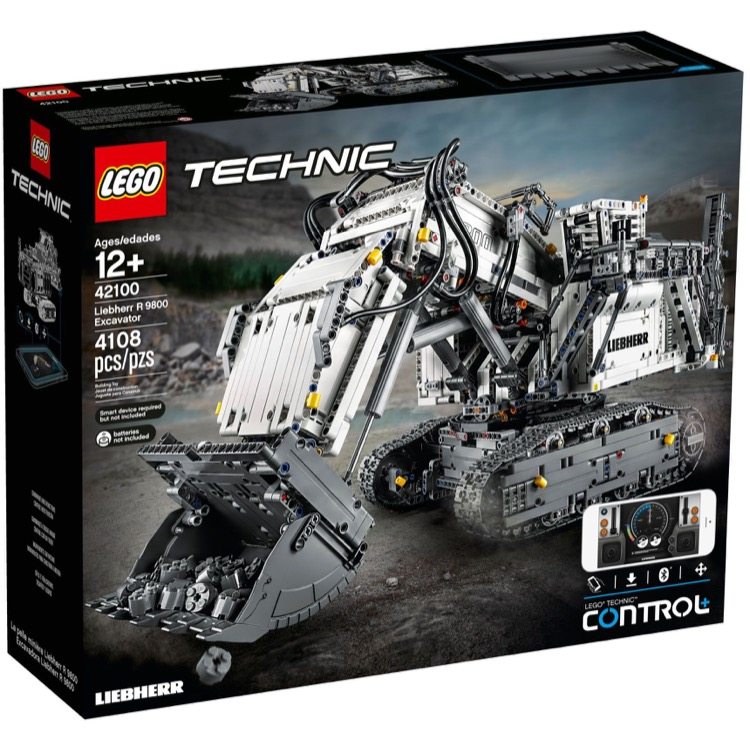 LEGO Technic Sets: 42100 Liebherr R 9800 Excavator NEW