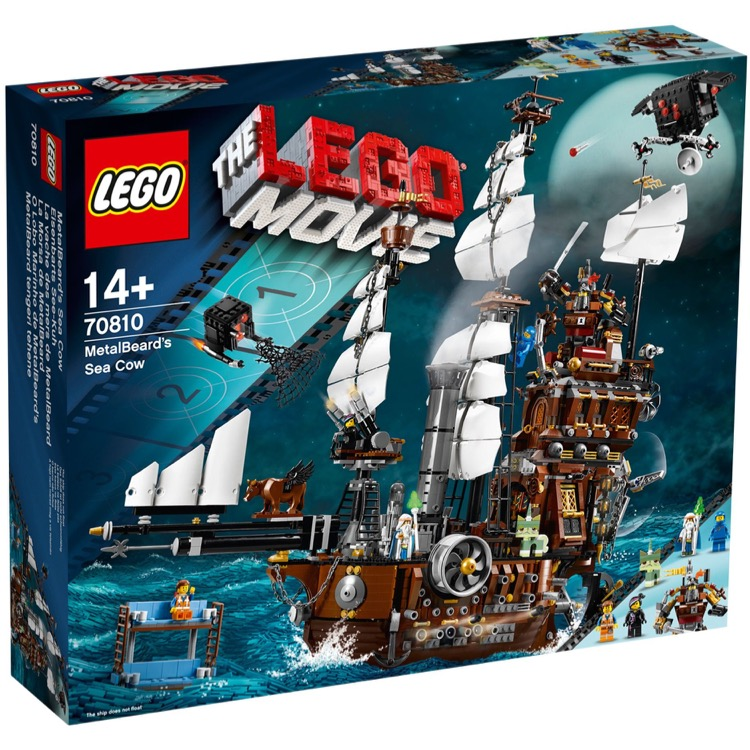 LEGO The LEGO Movie Sets: 70810 MetalBeard's Sea Cow NEW