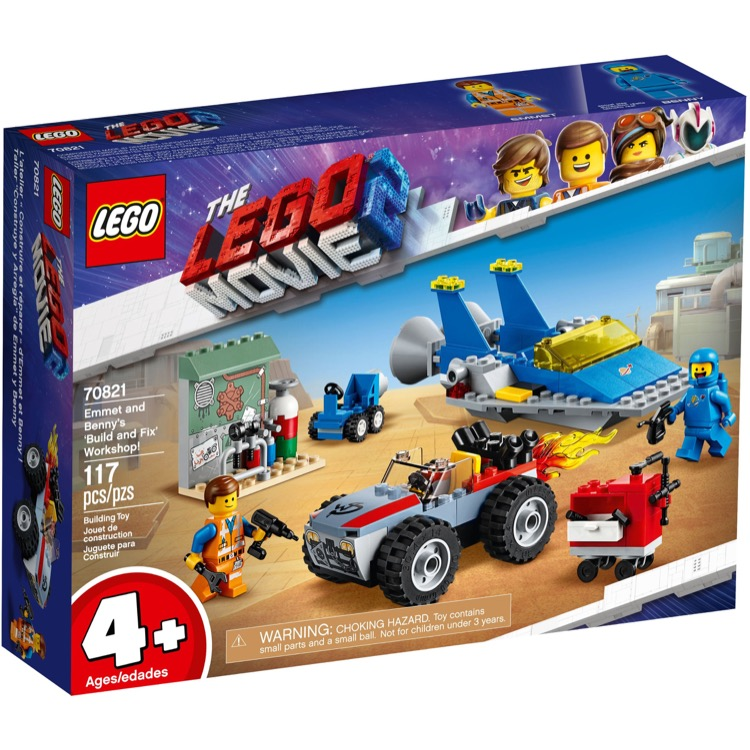 LEGO The LEGO Movie Sets: The LEGO Movie 2 70821 Emmet and Benny's 'Build and Fix' Workshop! NEW