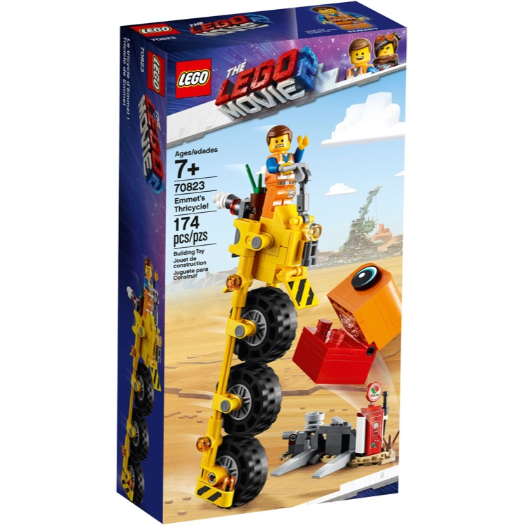 LEGO The LEGO Movie Sets: The LEGO Movie 2 70823 Emmet's Thricycle! NEW